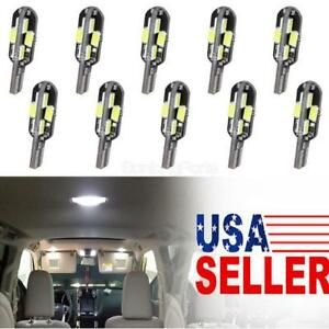 10x White 12smd 5630 Led License Plate Lights Interior Lamps Car Error Free 12v