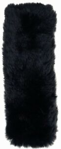 Fuzzy Black Sheepskin Like Seat Belt Cover Shoulder Pad For Car Truck Auto