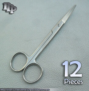 12 Pieces Mayo Scissors 6 5 Curved Dental Surgical Instruments