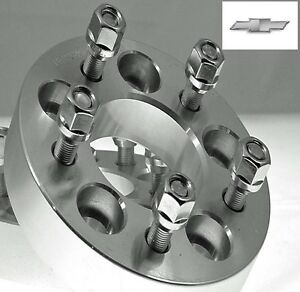 2 Pc Chevrolet 5x4 75 Billet Wheel Adapters Spacers 1 00 Inch Ap 5475a1215