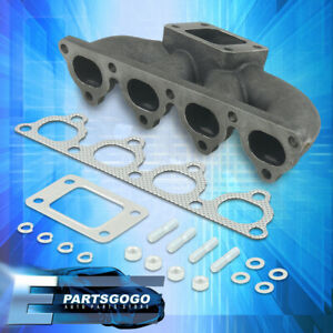 T3 t4 Cast Turbo Manifold Honda 38mm Wg For Civic Crx Del Sol D15 D16 1 6l Sohc