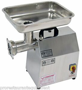 new American Eagle Ae g22n 1 5hp 22 Commercial Stainless Steel Meat Grinder