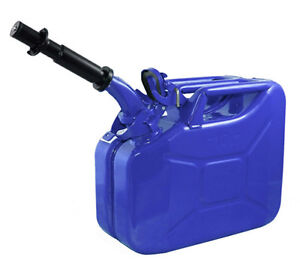 New Wavian 10 Liter Nato Military Steel Jerry Can Blue 3023