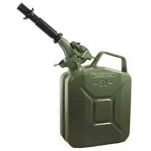 New Wavian 5 Liter Nato Military Steel Jerry Can Olive Drab Green 3016