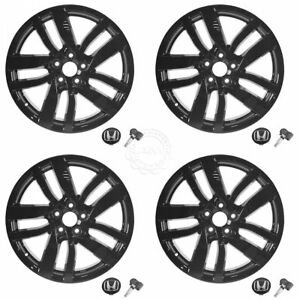 Oem Alloy Rim Wheel W Hub Cap Tpms Kit Set Of 4 Black 20 Inch For Honda Pilot