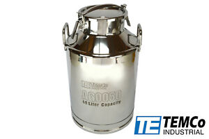 Temco 40 Liter 10 5 Gallon Stainless Steel Milk Can Wine Pail Bucket Tote Jug