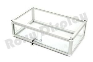 Glass Countertop Display Case Store Fixture Showcase With Front Lock sc kdflat