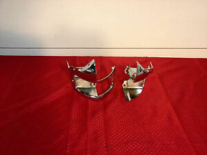 51 Lincoln Cosmopolitan Nos Chrome Lh Rh Parking Light Base Rh Bezel