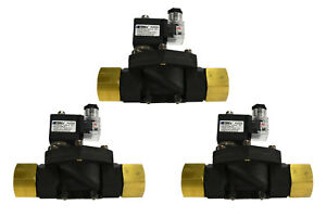 3 Lot 1 Npt Electric Plastic Solenoid Air Water Valve Nc 110v Ac Pneumatic
