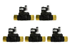 5 Lot 1 Npt Electric Plastic Solenoid Air Water Valve Nc 110v Ac Pneumatic