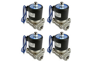4 Lot 1 2 Bspp Electric Stainless Steel Solenoid Air Water Valve Nc 12v Dc