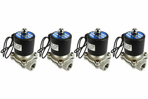 4 Lot 1 2 Npt Electric Stainless Steel Solenoid Air Water Valve Nc 110v Ac