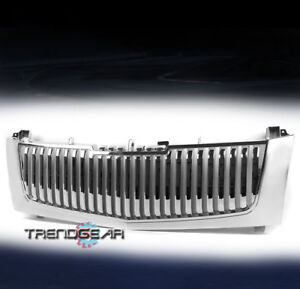 2002 2006 Cadillac Escalade Vertical Style Front Main Hood Grille Insert Chrome