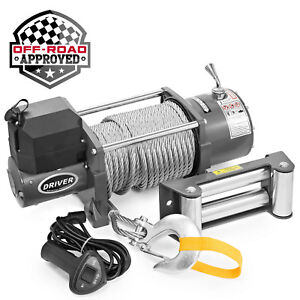 Electric Self Recovery Winch For Jeep Truck Trailer Suv 17 000 Lb