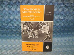 1958 Ford Car Truck Alternator System Original Mechanics Service Forum Booklet