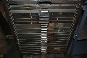 Type Cabinet 24 Draws Bookbinding Hot Stamping Full With Type