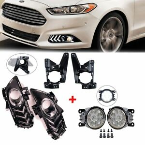 Front Fog Light Lamps Cover Bracket Kit New For 2013 2015 Ford Fusion Mondeo