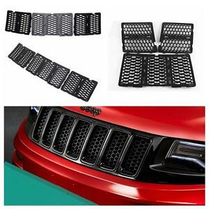 Front Honeycomb Matte Mesh Grille Inserts For Jeep Grand Cherokee 2014 2015 2016