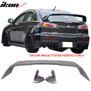 Fits 08 17 Mitsubishi Lancer Evolution Trunk Spoiler Painted Graphite Gray A39