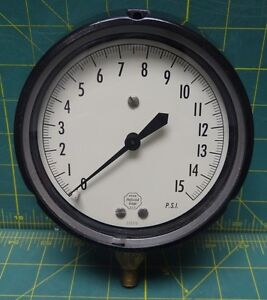 Acco Helicoid 4 1 2 Pressure Gauge 0 15 Psi Nsn 6685 00 194 1683 Bottom 1 4 Con