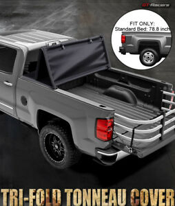 For 2014 2018 Chevy Silverado gmc Sierra 6 5 Ft Bed Tri fold Soft Tonneau Cover