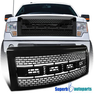 2009 2014 Ford F150 Black Abs Luxury Raptor Style Front Hood Grille