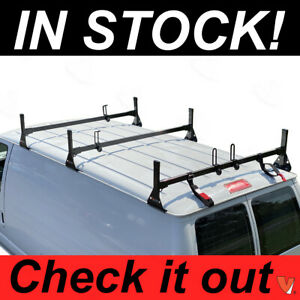 Ford Econoline Van 3 Bar 1992 2015 Ladder Roof Racks Steel Black New Rack