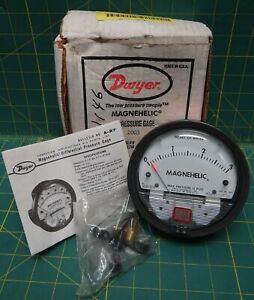 Dwyer Magnehelic 4 Pressure Gauge 0 3 Inches Of Water Model 2003 Max Pressure