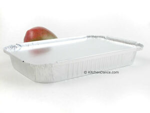 4 Lb Disposable Aluminum Food Storage take Out Pans With Board Lids 240l