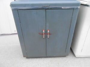 Vintage Pressed Steel Speed O Print Storage Cabinet W slide Outs