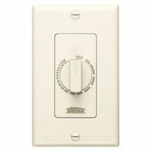 Broan nutone 57v Electronic Variable Speed Control Ivory 3 Amp Capacity 120v