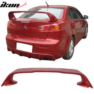 08 17 Lancer Evolution 10 Evo X Trunk Spoiler Painted P26 Rally Red Metallic