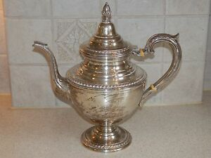 International Silver English Gadroon Sterling Teapot 10 Excellent Condition