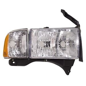 Headlight Headlamp W Corner Light Passenger Side Right Rh For Dodge Ram Sport