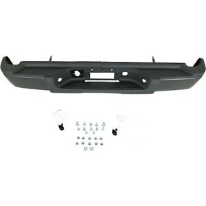 Step Bumper For 2007 2010 Chevy Silverado 2500 Hd Fleetside Textured Black Rear