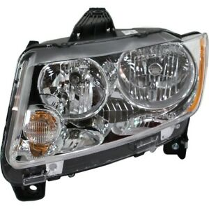 Headlight For 2011 2012 2013 Jeep Compass Left Clear Lens With Bulb