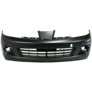 Front Bumper Cover For 2007 2012 Nissan Versa W Fog Lamp Holes Primed