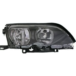 Headlight For 2002 2005 Bmw 325i 320i Right Black Housing With Bulb