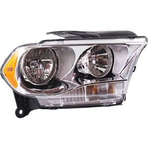 Headlight For 2011 2012 2013 Dodge Durango Right Chrome Housing With Bulb