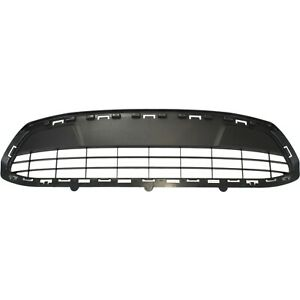 Bumper Grille For 2011 2012 Ford Fiesta Center Textured Gray Plastic Capa