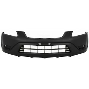 New Black Textured Front Bumper Cover Replacement For 2002 2004 Honda Crv Cr V