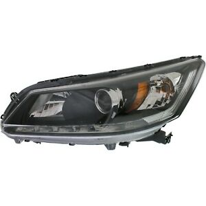 Headlight For 2013 2014 2015 Honda Accord Ex L Touring 6cyl Sedan Left With Bulb