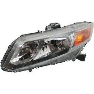 Headlight For 2012 Honda Civic Driver Side W Bulb