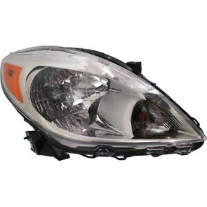 Headlight For 2012 2013 2014 Nissan Versa Right Clear Lens With Bulb