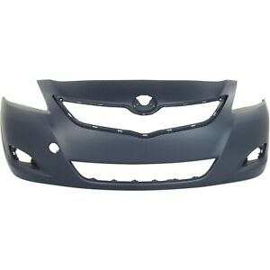 Front Bumper Cover For 2007 12 Toyota Yaris Sedan With Fog Lamp Holes 5211952934