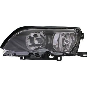 Headlight For 2002 2005 Bmw 325i 320i Left Black Housing With Bulb