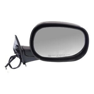 Power Mirror For 1998 01 Dodge Ram 1500 Right Manual Fold Heated Textured Black