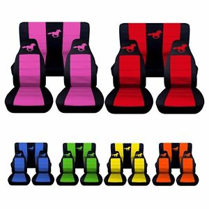 1983 To 1993 Ford Mustang Convertible Horse Seat Covers Choose Your Colors