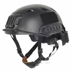 Airsoft black swat core ops helmet jump uk fast delivery rail GBP 39.95