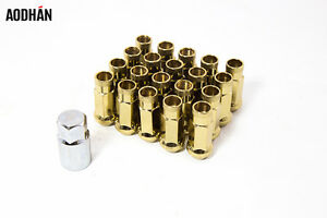 20pc W Key Aodhan Xt51 12x1 25 Lug Nut Gold Fit Infiniti G35 G37 S I35
